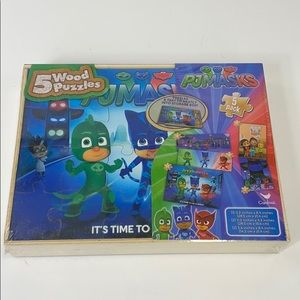 PJMASKS Five wood puzzles new